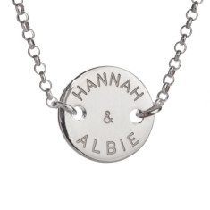 Anabel personalised sterling silver necklace