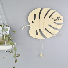 Personalised Monstera Leaf Jewellery And Watch Hanger