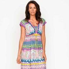 Amber high summer panel dress