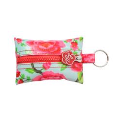 Alexandra sage print key ring