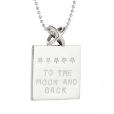 Kiss kiss personalised sterling silver pendant