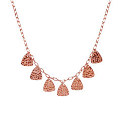 Tribal Necklace in Rose Gold Plate