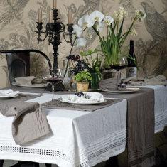 Orba linen tablecloth