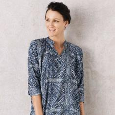 Romantica tunic in abstract print