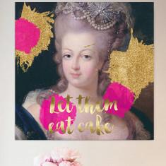 Marie-Antoinette gold print