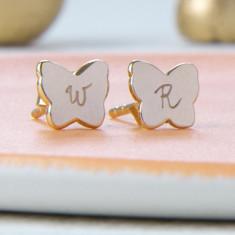 Personalised butterfly earrings