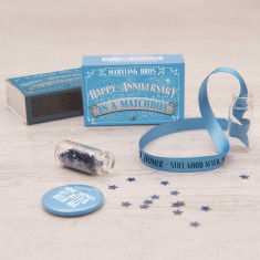 Personalised Happy Anniversary Message In A Matchbox