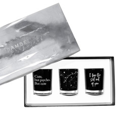 Cute But Psycho - Trio Candle Set