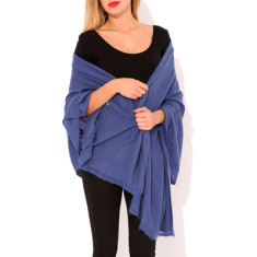 Moye cashmere stole in denim blue