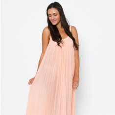 Long Plait Dress - Peach