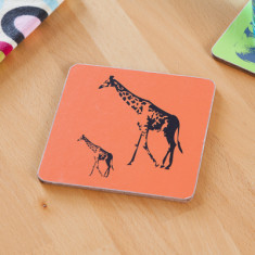 Giraffe parade coasters (set of 4)