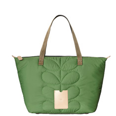 Etc by Orla Kiely zip shopper quilted stem handbag in green