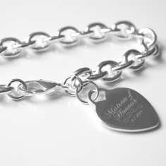 Personalised Maid or Matron of Honour engraved bracelet