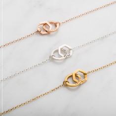 Personalised Interlinking Geometric Necklace