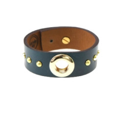 Inner circle cuff in oxford blue by Michelle Caley