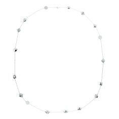 Anaar long bead necklace in silver