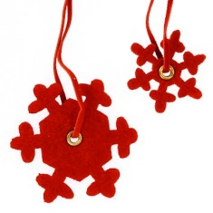 Christmas snowflake felt present toppers