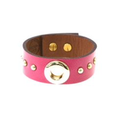 Inner circle cuff in hot pink by Michelle Caley
