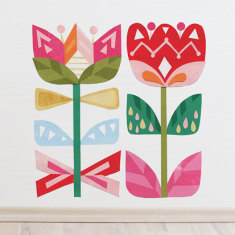 Scandi flower wall sticker