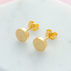Circle shimmer studs in gold