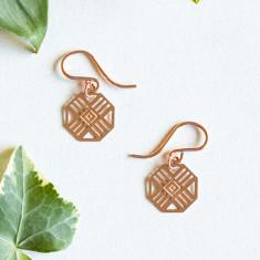 Rose Gold Zimi Earrings