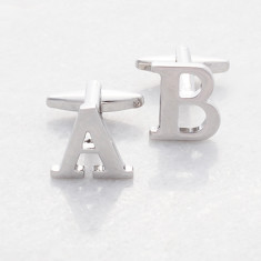 Personalised Initial alphabet cufflinks