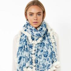Tassel scarf in botanical