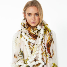 Jet set scarf in gold