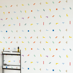 Colorful Bit Blocks wall sticker