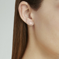 Clover studs sterling silver