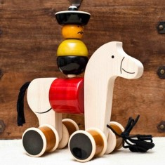 Hee haw wooden horse toy