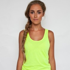 Sweatshop free neon yellow tank