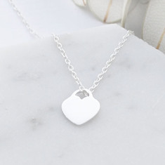 Be still my heart necklace in sterling silver