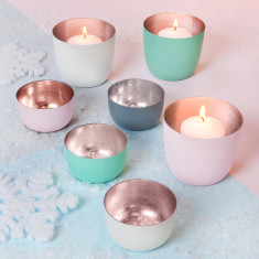 Pastel & Rose Gold Votive Holders