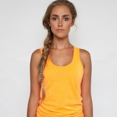 Sweatshop free neon orange tank