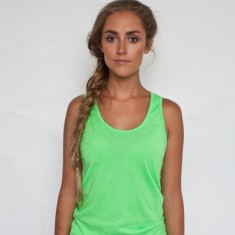 Sweatshop free neon green tank