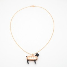 Hot dog necklace