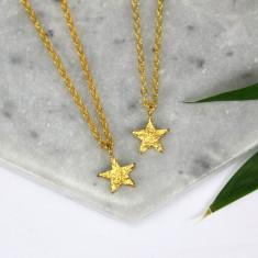 Gold vermeil star charm necklace