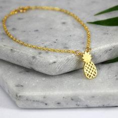Sterling silver & gold pineapple bracelet