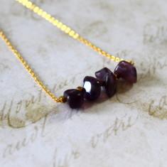 Children's semi-precious stone bar necklace