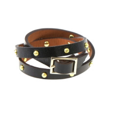 It's a wrap leather bracelet in black by Michelle Caley
