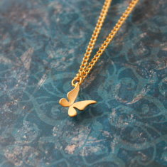Chidren's gold plated butterfly charm necklace