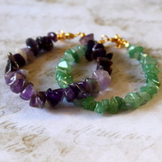 Children's semi-precious nugget stone bracelet