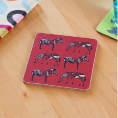 Zebra march coasters (set of 4)