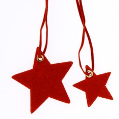 Christmas star felt present toppers
