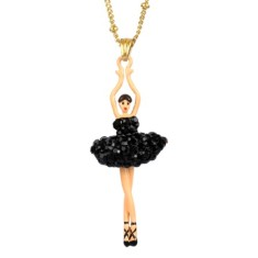 Sparkling Black ballerina necklace