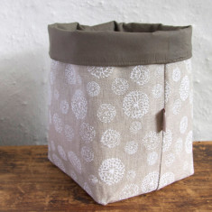 Fabric Baskets, Wildflower (white)