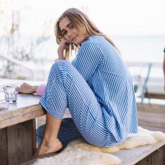 Braddock blue stripe women's pyjama pants