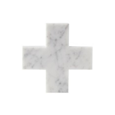 White Marble Cross Trivet