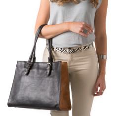 Olivia structured leather handbag